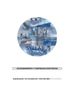 Accionamientos y Controles Eléctricos