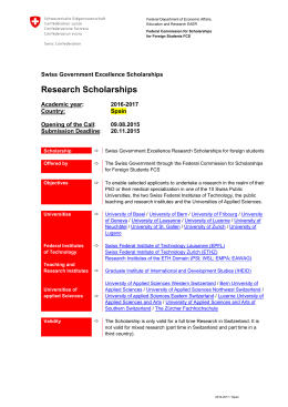 Research Scholarships