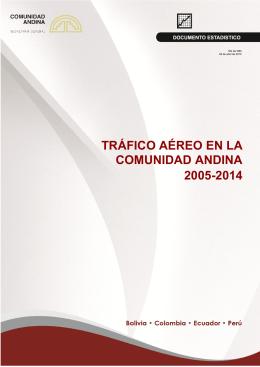 trafico aereo - Comunidad Andina