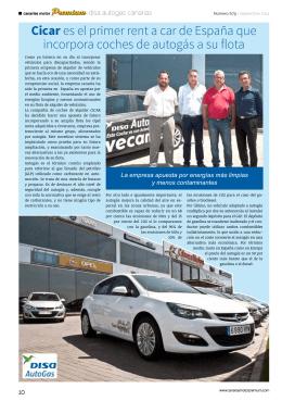 Cicar es el primer rent a car de España que incorpora coches de