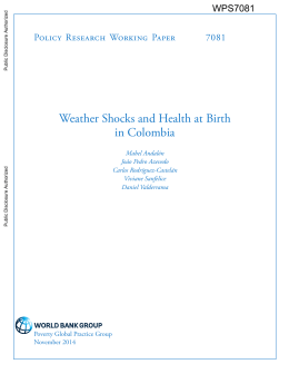 Weather Shocks and Health at Birth in Colombia