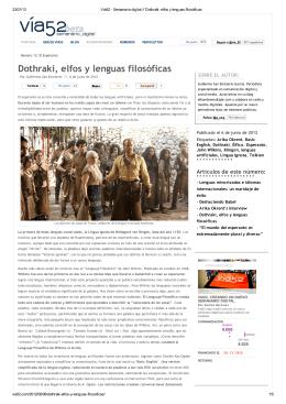 Dothraki, elfos y lenguas filosóficas