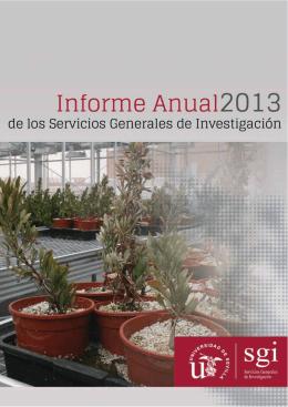 Informe CITIUS 2013 - Vicerrectorado de Investigación