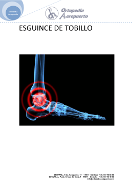 Manual: El Esguince de Tobillo