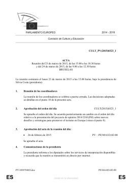 CULT_PV(2015)0323_1 ACTA Reunión del 23 de marzo