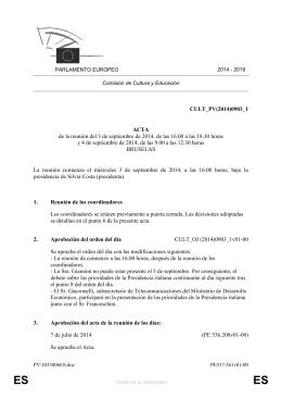 CULT_PV(2014)0903_1 ACTA de la reunión del 3 de