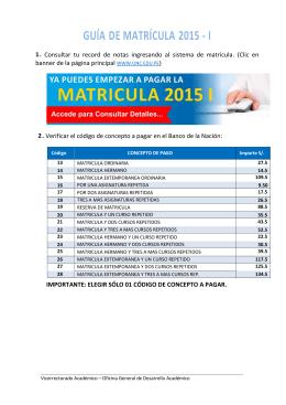 GUÍA DE MATRÍCULA 2015 - I - Universidad Nacional de Cajamarca