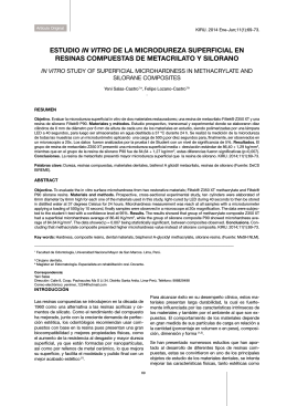 estudio in vitro de la microdureza superficial en resinas