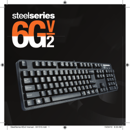 SteelSeries 6Gv2 manual