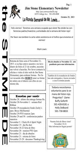 Jim Stone Elementary Newsletter