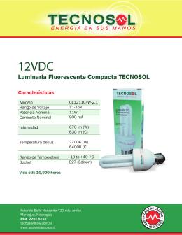 Luminaria Fluorescente Compacta TECNOSOL