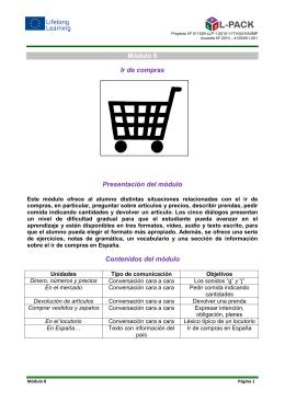 Módulo 8 – Ir de compras - L-Pack
