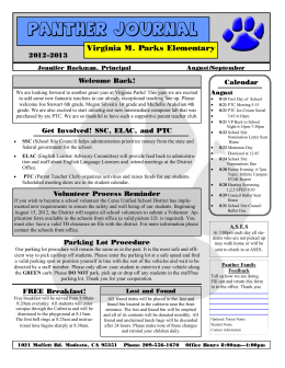 Panther Journal - Virginia Parks Elementary