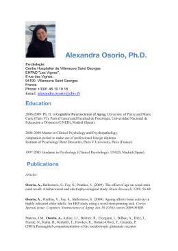Alexandra Osorio, Ph.D.