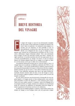 capítulo 1 breve historia del vinagre
