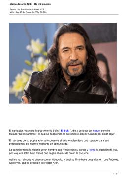 Marco Antonio Solís `De mil amores` - Amor 92.5