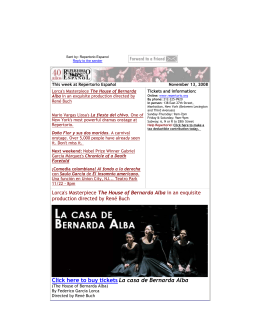 Click here to buy tickets La casa de Bernarda Alba