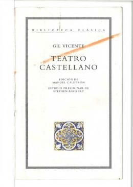 Teatro castellano - Real Academia Española