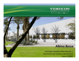 Recuperación de vidrio de CRT/Glass to glass recycling