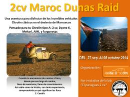 2cv maroc dunas raid