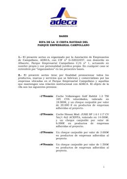 RIFA DE LA II CESTA NAVIDAD DEL PARQUE EMPRESARIAL