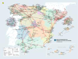 Mapa: Red de Transporte de energía eléctrica, con centrales