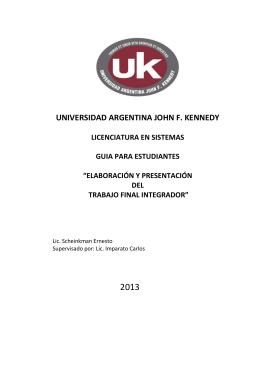 Guía para estudiantes - Universidad Argentina John F. Kennedy