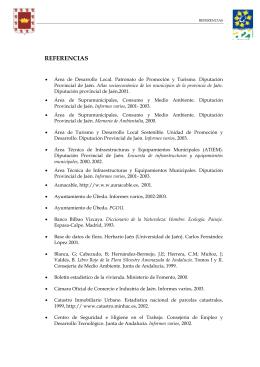 REFERENCIAS - Agenda 21 de la provincia de Jaén