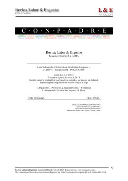 Editorial L&E, v.8, n.4, 2014
