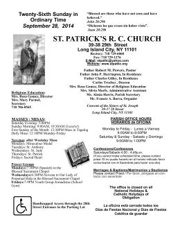 ST. PATRICK`S R. C. CHURCH