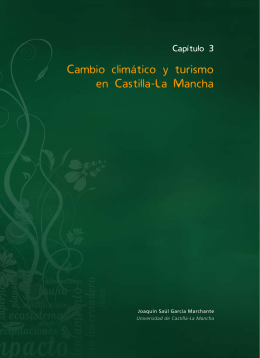 Capítulo 3. Cambio climático y turismo en Castilla