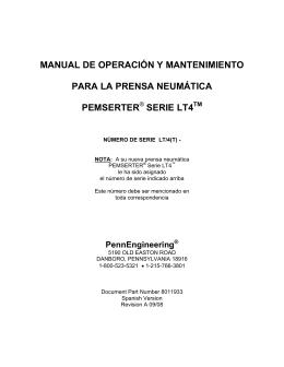 manual de operación y mantenimiento para la