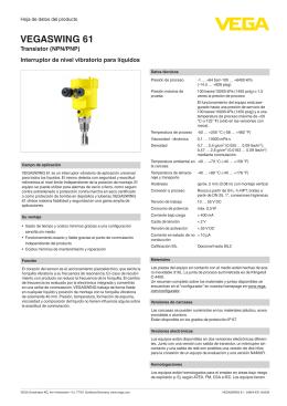 Instrucciones de servicio - VEGASWING 61