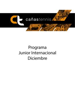 Programa Junior Internacional Diciembre