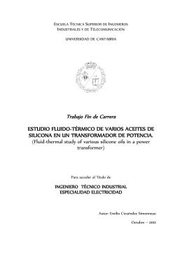 ESTUDIO FLUIDO-TÉRMICO DE VARIOS ACEITES DE SILICONA