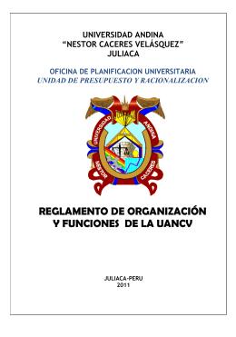 reglamento de organización y funciones de la uancv