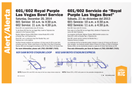 601/602 Royal Purple Las Vegas Bowl Service 601/602