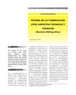 PRUEBA DE LA TUBERCULINA (PPD) ASPECTOS