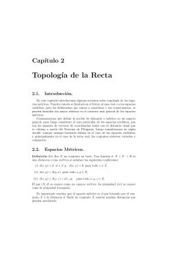 Topología de la Recta