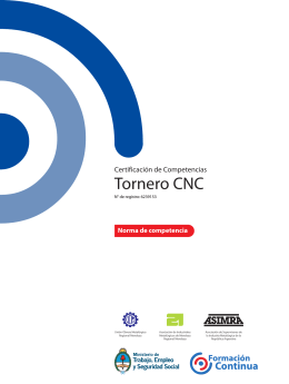 Tornero CNC - Ministerio de Trabajo, Empleo y Seguridad Social