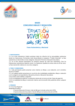 Bases concurso Triatlon Divertido