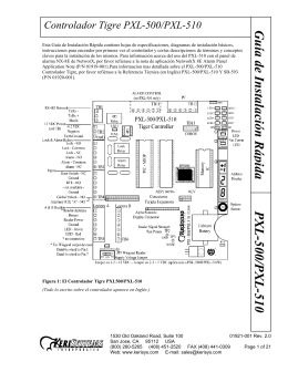 Guía de Instalación Rápida PXL-500/PXL-510