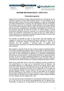 Mayo - Euskalmet. Servicio Vasco de Meteorología