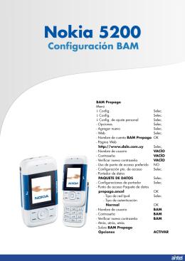 Configuración BAM Nokia 5200