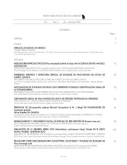 Vol. 1 Num. 2 - Instituto Nacional de Investigaciones Forestales