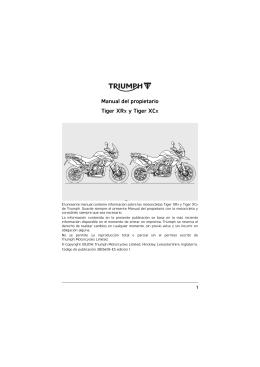Manual del propietario Tiger XRX y Tiger XCX