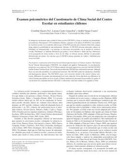 Examen psicométrico del Cuestionario de Clima