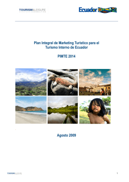 Plan Integral de Marketing Turístico para el Turismo Interno