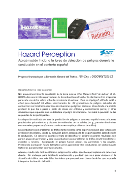 Hazard Perception - Dirección General de Tráfico