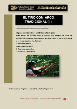 EL TIRO CON ARCO TRADICIONAL (II)